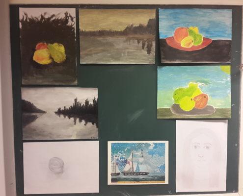 Tegne og malekurs for ungdom og voksne