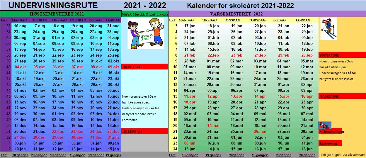 Undervisningsruten 2021 - 2022